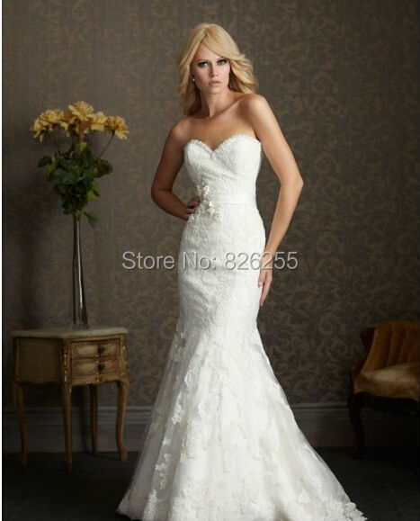 love story 2014 new design popular appliques mermaid wedding dressesbridal gowns nw0110 free shipping