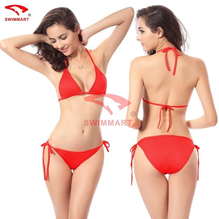 Röd Bikini Baddräkt Badkläder Kvinnor Biquini 2017 Push Up - Sportkläder och accessoarer