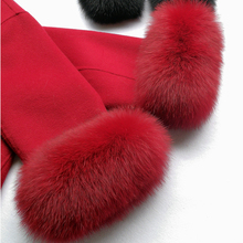 Real Genuine High Quality Fox Fur Cuff Hand Wear Real Fox Fur Cuffs Black Beige White Red Customized Size and Colors