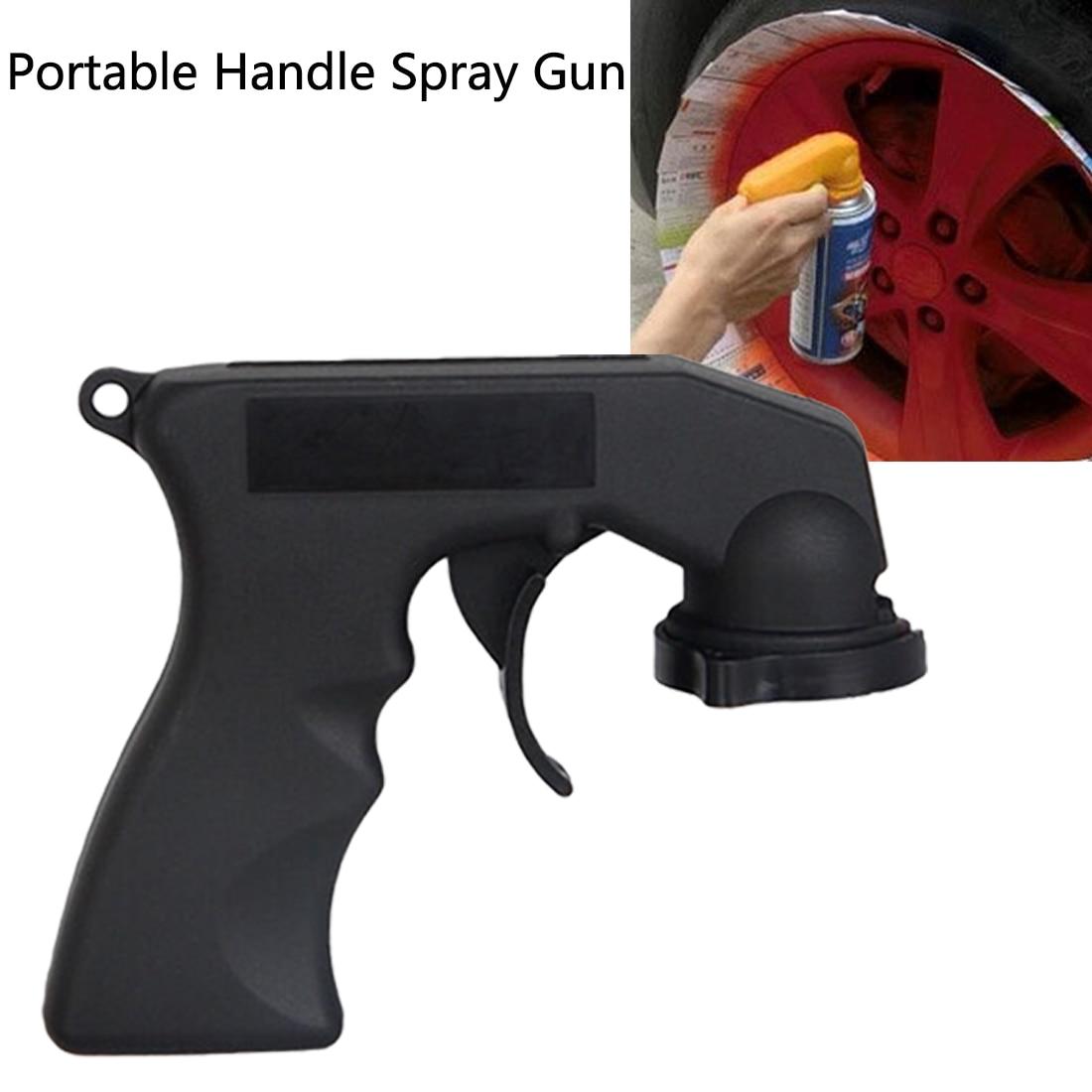PP Material Spray Gun Handle Tools With Full Grip Trigger Locking Collar Car Maintenance 1pc Spray Adaptor Paint Care Aerosol