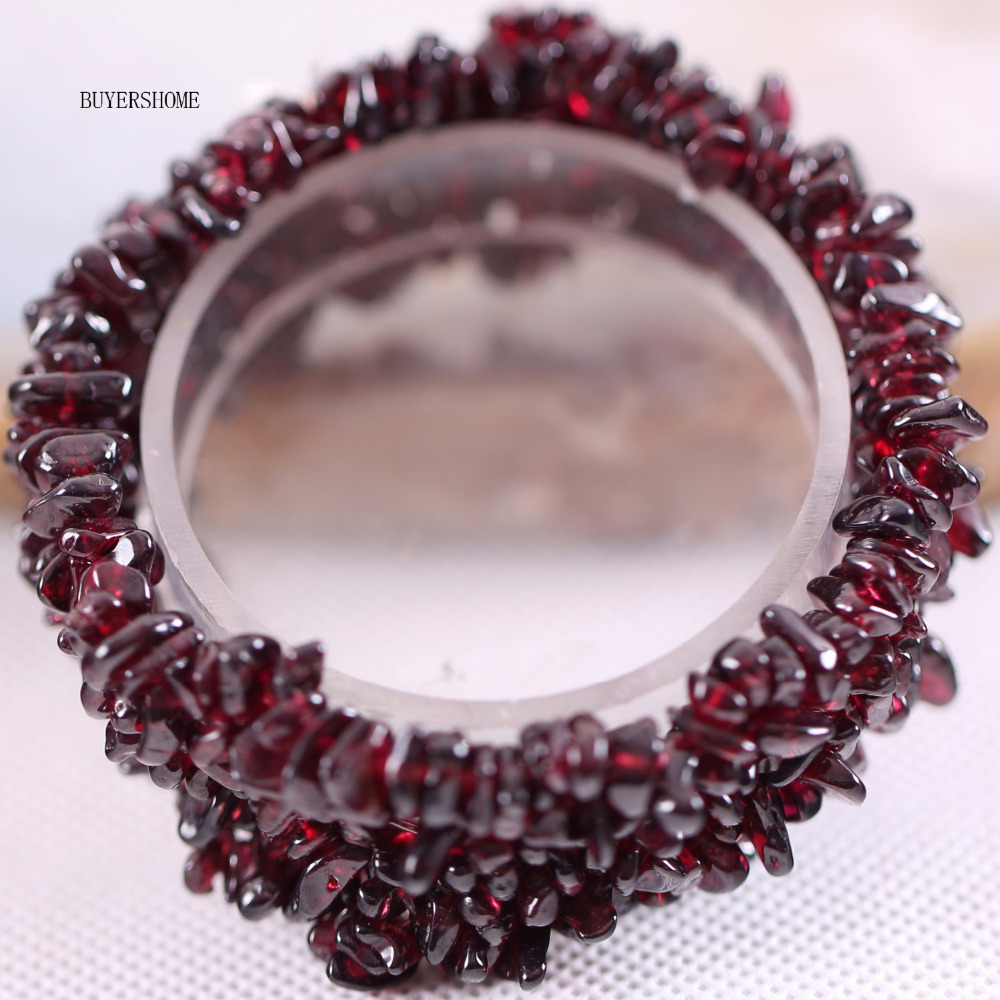 Free Shipping Fashion Jewelry Stretch Chip beads Weave Red Natural Garnet Bracelet 7 1Pcs H041 10pcs free shipping ncp1337p ncp1337 dip 7 lcd tv chip power management chip 100