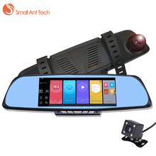 Best price SmallAntTech FHD 1080P Car Rearview Mirror DVR Camera GPS Video Recorder Dual Lens 6.86″ WIFI Bluetooth Auto Mirror DVR Dash cam