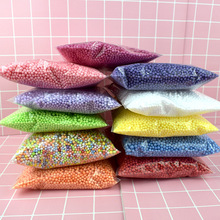 Colorful Soft Fluffy Snow Mud Slime Balls Small Tiny Foam Beads For Floam Filler Fruit Slice with Tools for Carft
