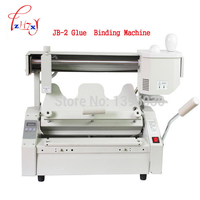 Hot melt book glue binding machine JB-2 Desktop binding machine glue book binder machine booklet maker 110V/220V