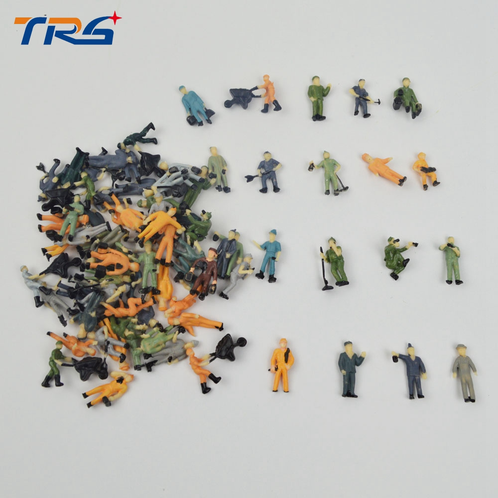 high quality 50pcs 1/87 scale architectural model railway workers train layout