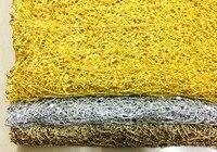3 Farben erhältlich höhlen heraus 3mm PET pailletten gold silber gewinde bahnen stickerei afrikanischen schnur spitze stoff mit pailletten