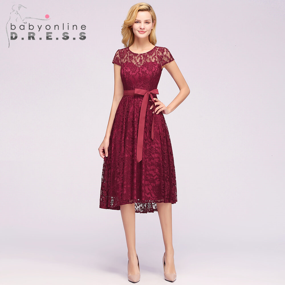 2019 Burgundy Plus Size Lace   Evening     Dress   Elegant O Neck Regular Sleeve Long   Evening   Gown With Sashes Vestido De Festa Longo