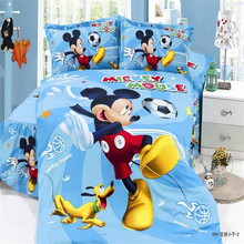 home textile,popular 3d mickey boys twin/single size bedding set of duvet cover bed sheet pillow case 2/3pcs bed linen set