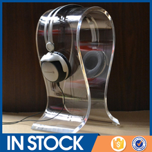 wholesale omega 8mm acrylic headphone display stand, headset display stand