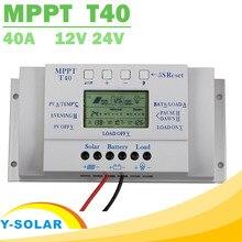 MPPT T40 40A Solar Şarj Regülatörü 12 V 24 V Otomatik lcd ekran Denetleyici Yük Çift Zamanlayıcı Kontrolü için Sokak ışık sistemi