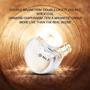 Image 4 - TFZ NO.3 ב אוזן אוזניות דינמי נהג סופר בס רעש מבטל אוזניות Dj סטריאו אוזניות 0.78mm 2Pin להסרה כבל