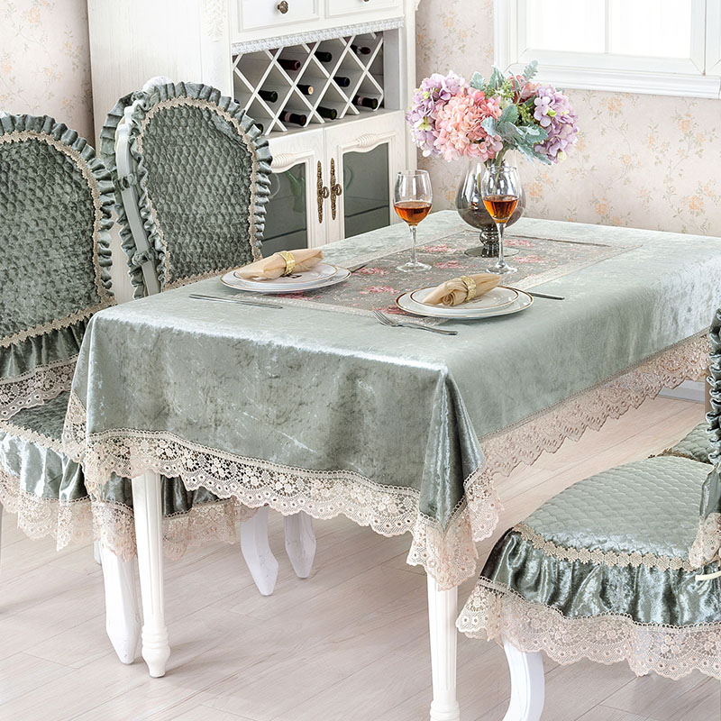 Square Green Tablecloth