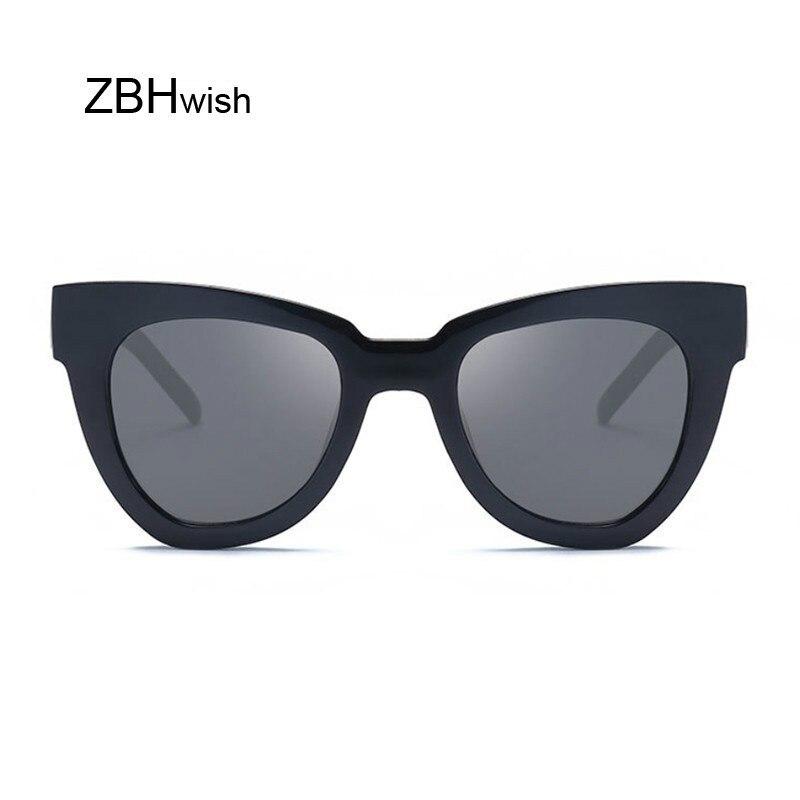 Sexy Cat Eye Sunglasses Women Brand Designer Mirror Sun Glasses Ladies Round Lens Shades For Female Eyewear