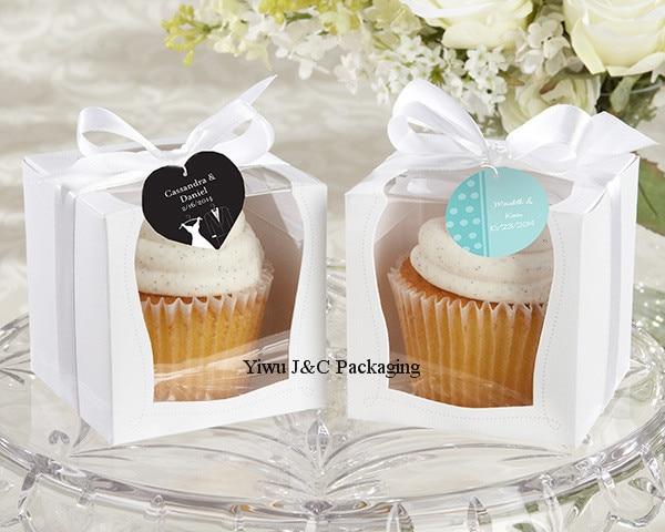 new design 100pcs 9x9 single wedding cupcake box with white insert wedding gift box
