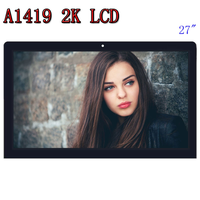 Para iMac A1419 2 K HD pantalla LCD con montaje de vidrio LM270WQ1 SD F1 F2 para iMac 27 A finales de 2012, 2013 MD095/096 ME088/089