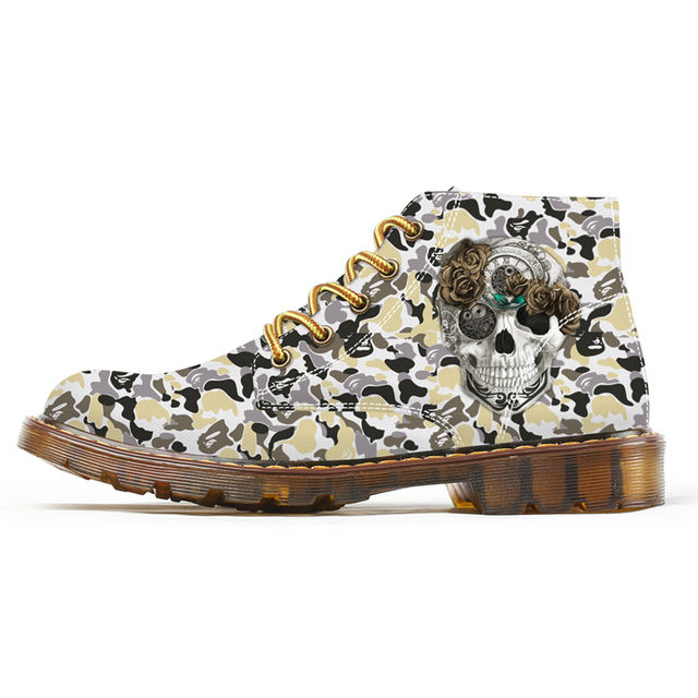 3D SKULL CAMOUFLAGE BOOTS (9 VARIAN)