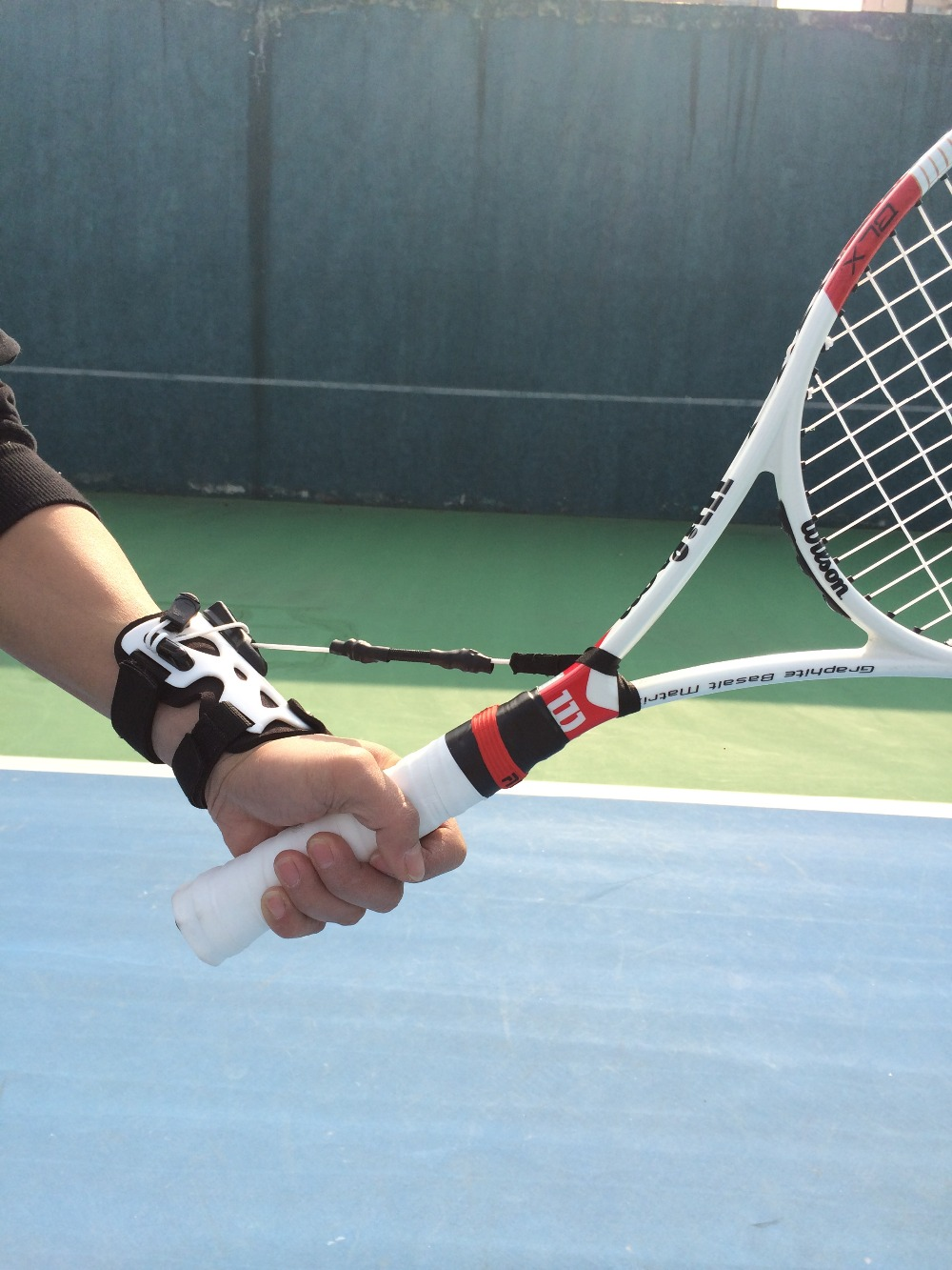 Free shipping tennis Fixed a wrist trainers fast master Tennis racket swing Main point Correct the wrist movement adjustable wrist and forearm splint external fixed support wrist brace fixing orthosisfit for men and women