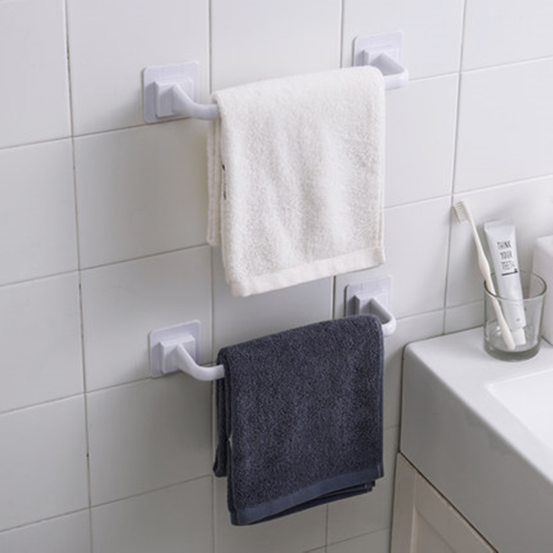 Thick Plastic Bathroom Wall Towel Hanger Free Punch