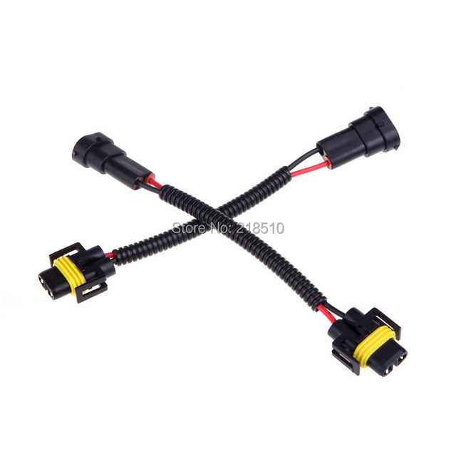 2Pcs H8 H9 H11 Wiring Harness Socket Car Wire Connector Cable Plug Adapter For HID LED
