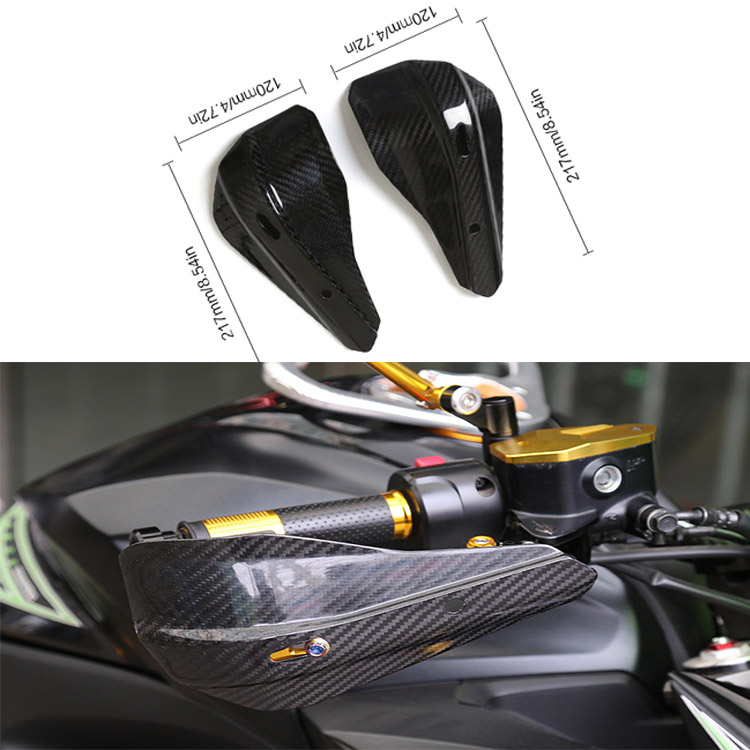 Universelle En Fiber De Carbone Moto Garde Motocross Protecteurs Main Gardes pour BMW/Honda/KTM/Kawasaki/Yamaha Suzuki /Ducati