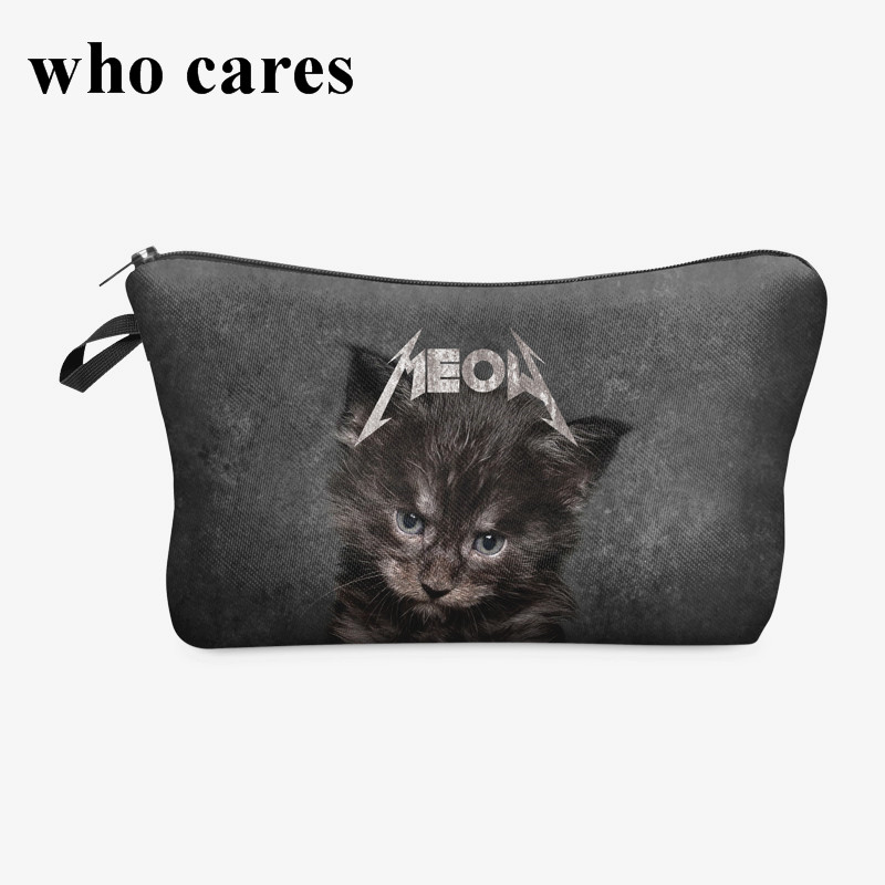meow cat 3D Print cosmetic bag organizer toiletry bag 2018 Fashion pencil makeup bags pouch necessaire makyaj cantasi unicorn 3d printing fashion makeup bag maleta de maquiagem cosmetic bag necessaire bags organizer party neceser maquillaje
