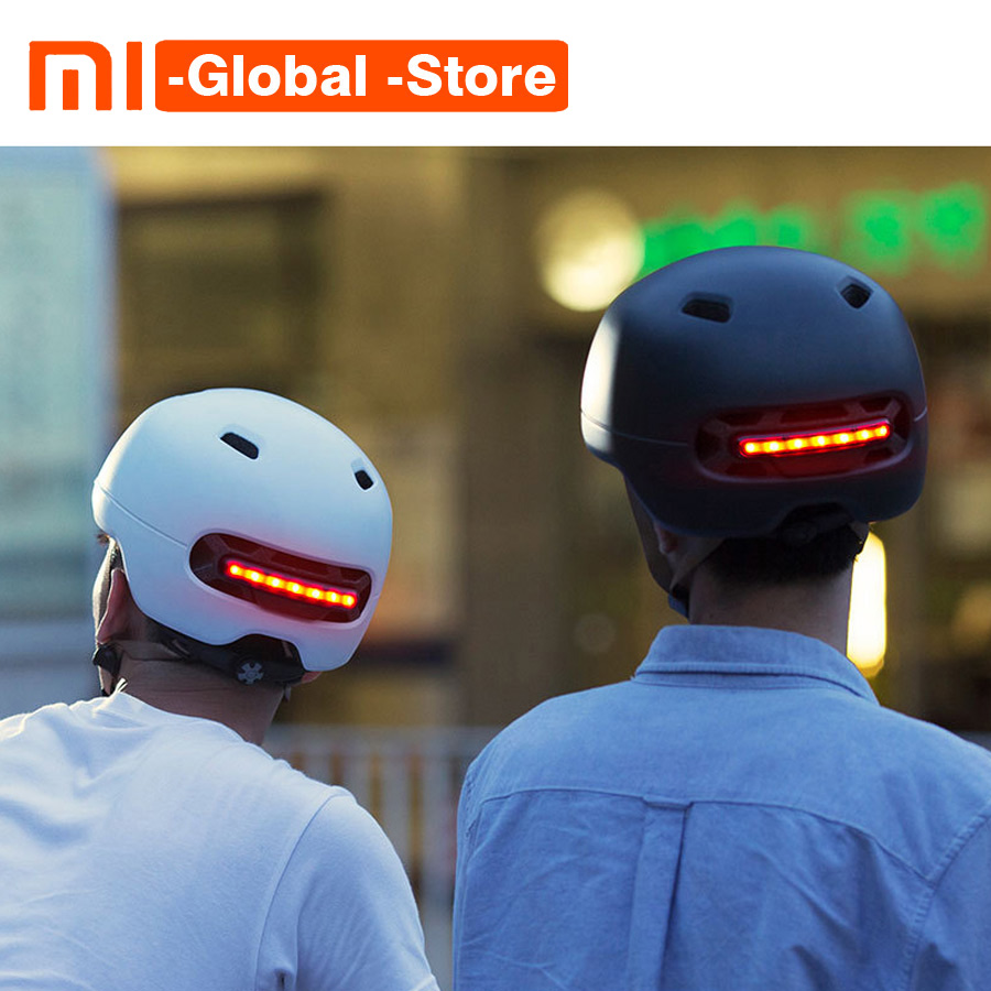 Newest Xiaomi Smart4u Waterproof Bicycle Smart Flash Helmets Back Light Riding Mountain Road Scooter Matte Helmet