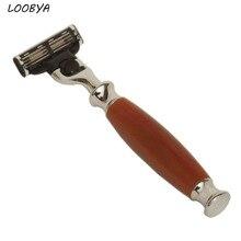Человек Безопасная бритва для бритья средства ухода за бородой инструмент с 3-х слойные лезвия