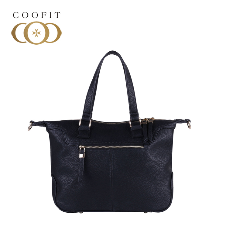 coofit Women's Large Tote Bag Casual PU Leather Shoulder Bag Solid Color Waterproof Crossbody Bags For Women Bolsa Feminina New sikote fold cooler bag chair insulation lunch box tote bag waterproof crossbody food picnic bag lancheira termica marmitas