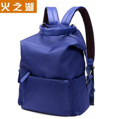 Pretty style pure color nylon women backpack college student school book bag leisure backpack travel bag