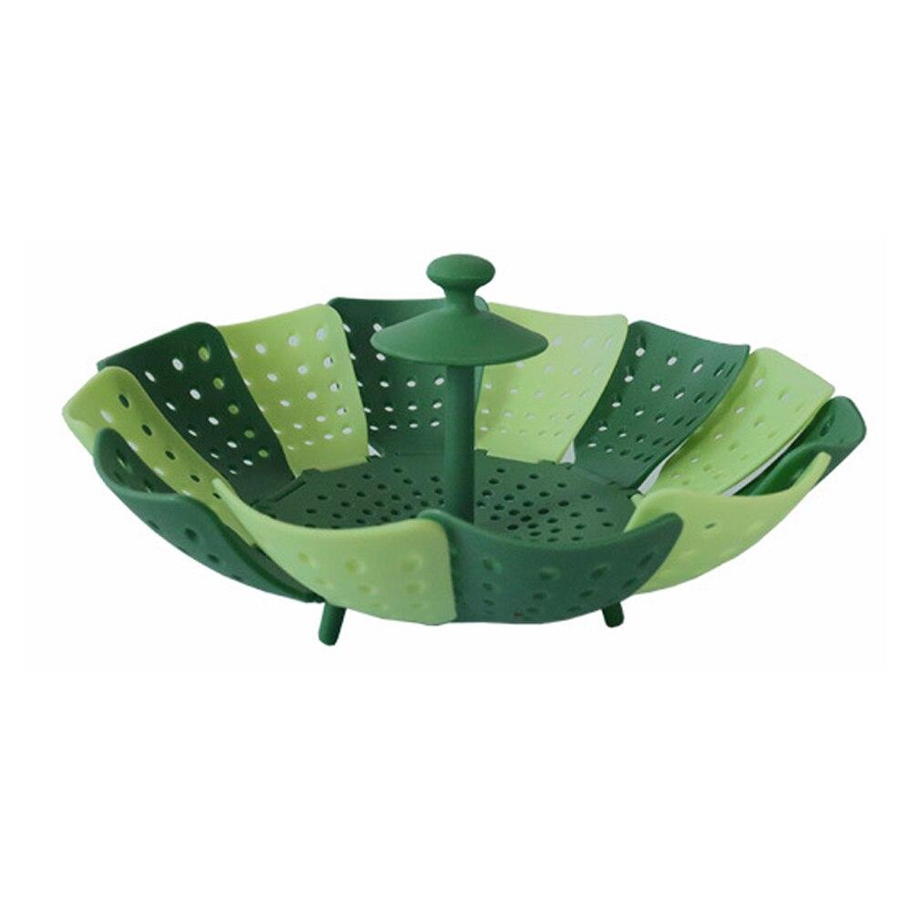 1pcs Silicone Home Kitchen Dish Rack Foldable Vegetable Basket Vegetable Drain Screen Kitchen Fruit Storage Basket Drain Baskets