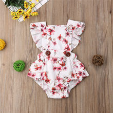 Summer Twin Girl Floral Lace Pinafore Jumpsuit