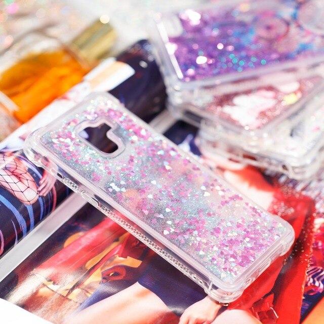 1ad1c8c4d816f0 Quicksand Phone Case For Samsung Galaxy A8 2018 Sparkle Glitter Stars TPU Flowing  Liquid For Galaxy