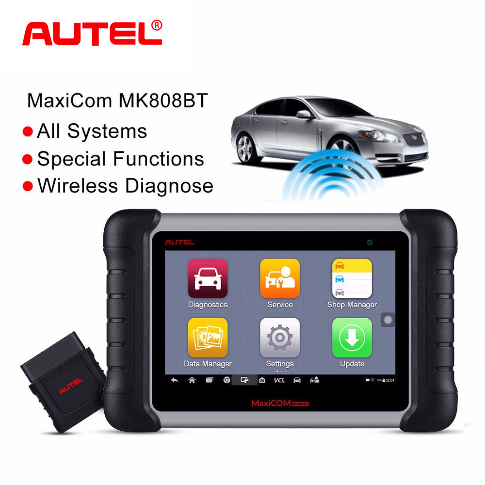 Autel MaxiCom MK808BT Wireless Scan OBD2 Auto Scanner Diagnostic Tool OBD 2 EOBD Car Diagnostic Scanner better than Launch X431