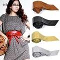 Mulheres Faux Leather Cintura Bowknot Tie Corset Cinch Cintura Cinto Banda Atacado