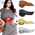Women Faux Leather Waistband Bowknot Corset Tie Cinch Waist Belt Band Wholesale