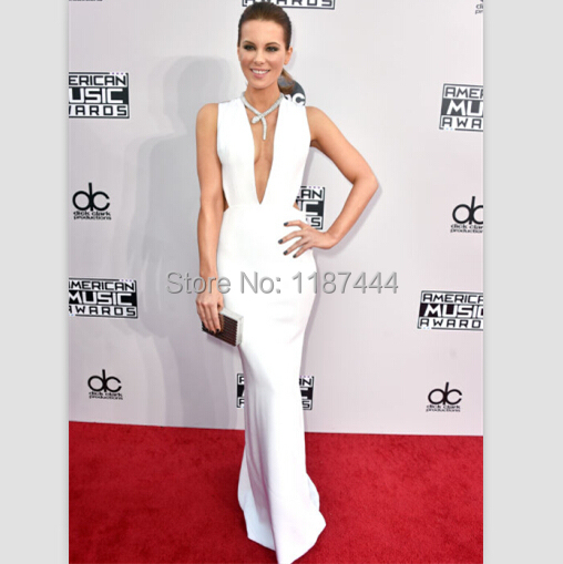 Kate Beckinsale white dress 2014 American Music Awards Evening gown ...