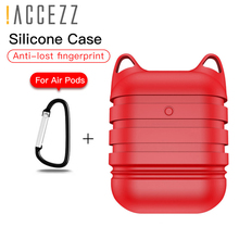 !ACCEZZ Silicone Earphone Case For AirPod Headset Protective Fundas Cover Accessories Waterproof Apple AirPods Anti-drop Box