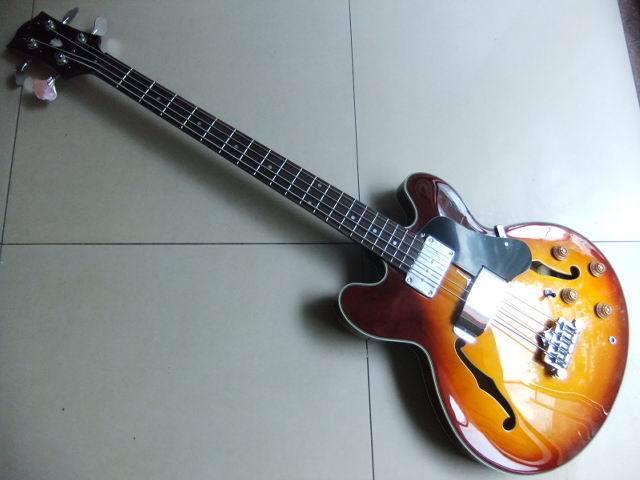 Wholesale New Gib ES Semi Hollow Body 4 String Electric Bass In Sunburst 110710 epiphone es 339 vintage sunburst