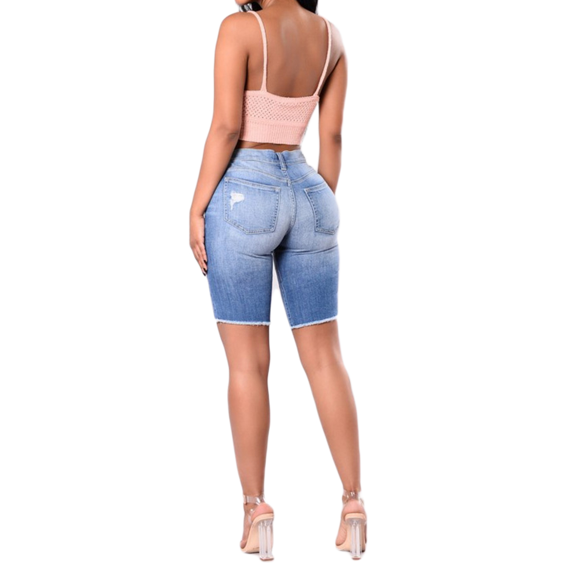 2017 Frauen Mode Hohe Taille Halben Zerrissene Jeans Straßen Gebrochen Dünne Denim Shorts Halbe Hosen Komplette Artikelauswahl