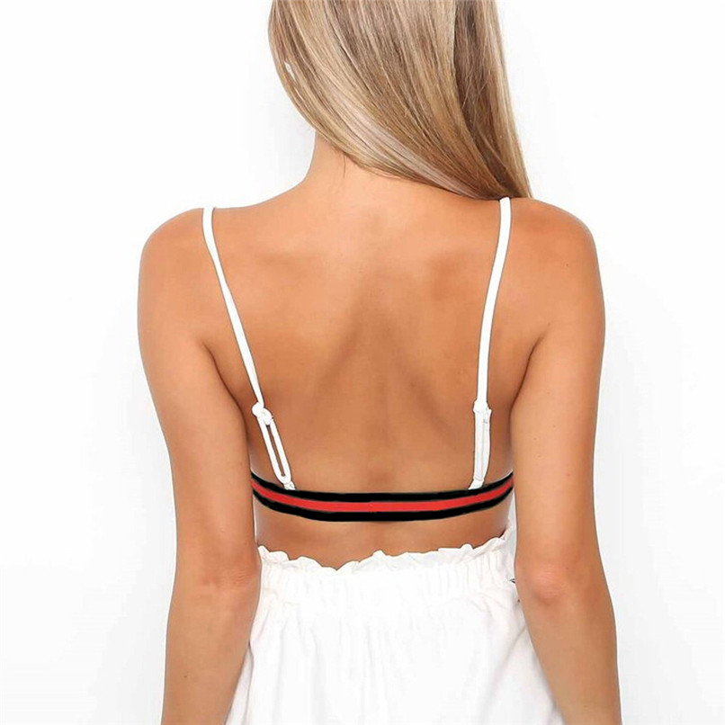 Women Fitness Sports Bra Striped Lingerie Seamless Bra Running Gym Crop Top Quick Dry Breathable Wirefree Vest Underwear #2S20 (12)