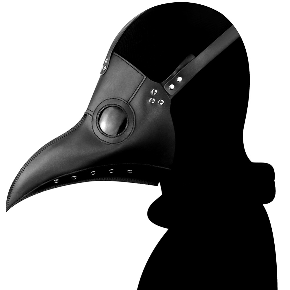 New Arrival Steampunk Plague Doctor Mask PU Leather Birds Beak Masks Halloween Cosplay Carnaval Costume Props