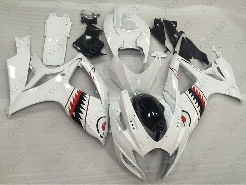 Full Body Kits for Suzuki GSXR750 2006 - 2007 K6 White Shark Bodywork for Suzuki GSXR600 07 Full Body Kits GSX-R600 2007Full Body Kits for Suzuki GSXR750 2006 - 2007 K6 White Shark Bodywork for Suzuki GSXR600 07 Full Body Kits GSX-R600 2007