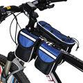 Nuevos Deportes Ciclismo Bicicleta de La Bici Delantera Del Tubo Del Armazón Bolsas Bolsa de Tubo Frontal Bicicleta + Cubierta Para La Lluvia 04218