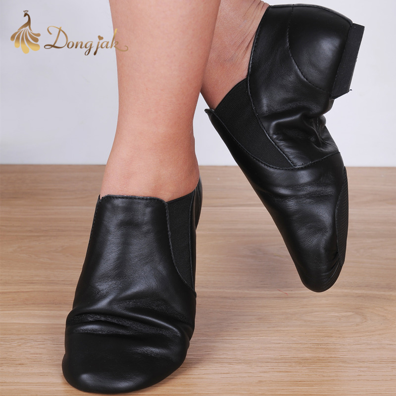 Dongjak Full Grain Leather Ballet Dancing Shoes for Women Latin Pointe Dance Shoes Jazz Sneakers for Men in Dance shoes from Sports Entertainment
