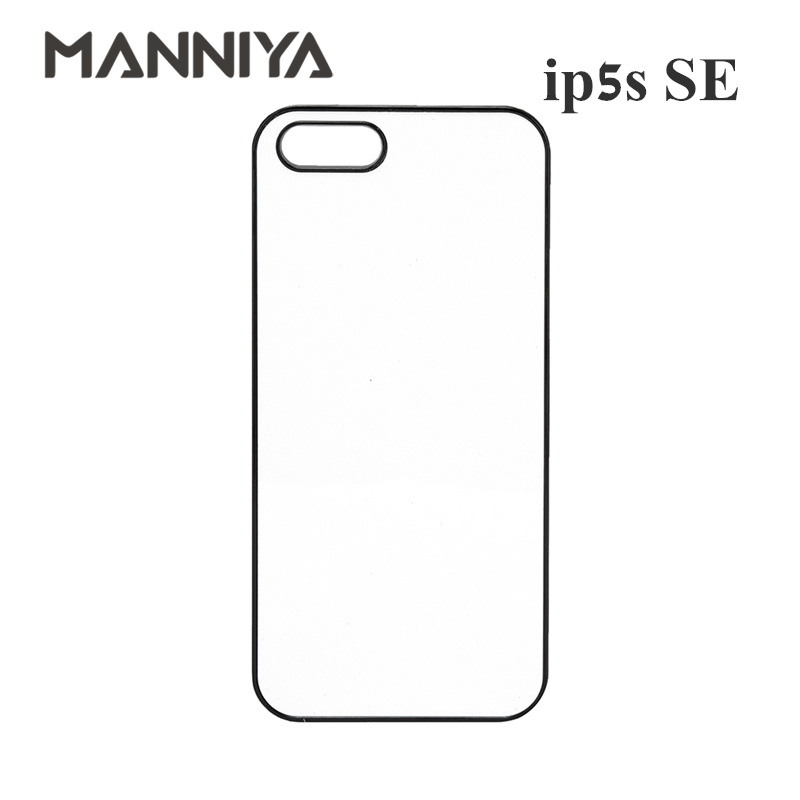 MANNIYA 2D Sublimation Blank phone Case for iphone 5 5s SE with Aluminum Inserts and Tape