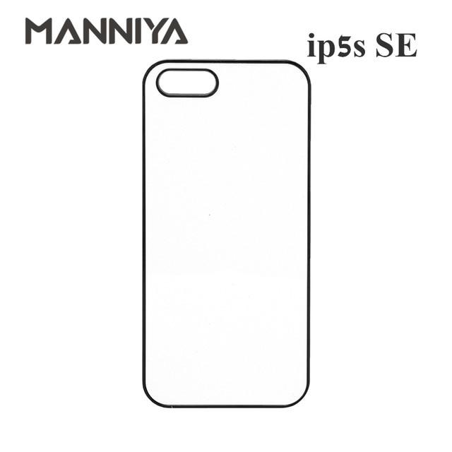 MANNIYA 2D Sublimazione Cassa del telefono bianco per iphone 5/5s/SE CON Inserti in alluminio E nastro di Trasporto Libero! 100 pz/lotto