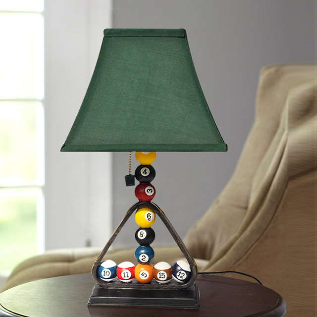 Modern Industrial Style Table Lamps Creative Billiards Bedroom
