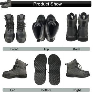 Image 5 - Angeln Kleidung Waders Fly Angeln Kleidung Im Freien Jagd Wasserdichte Hosen und Gummi Sohle Schuhe Set Waten Anzüge Stiefel DXR1