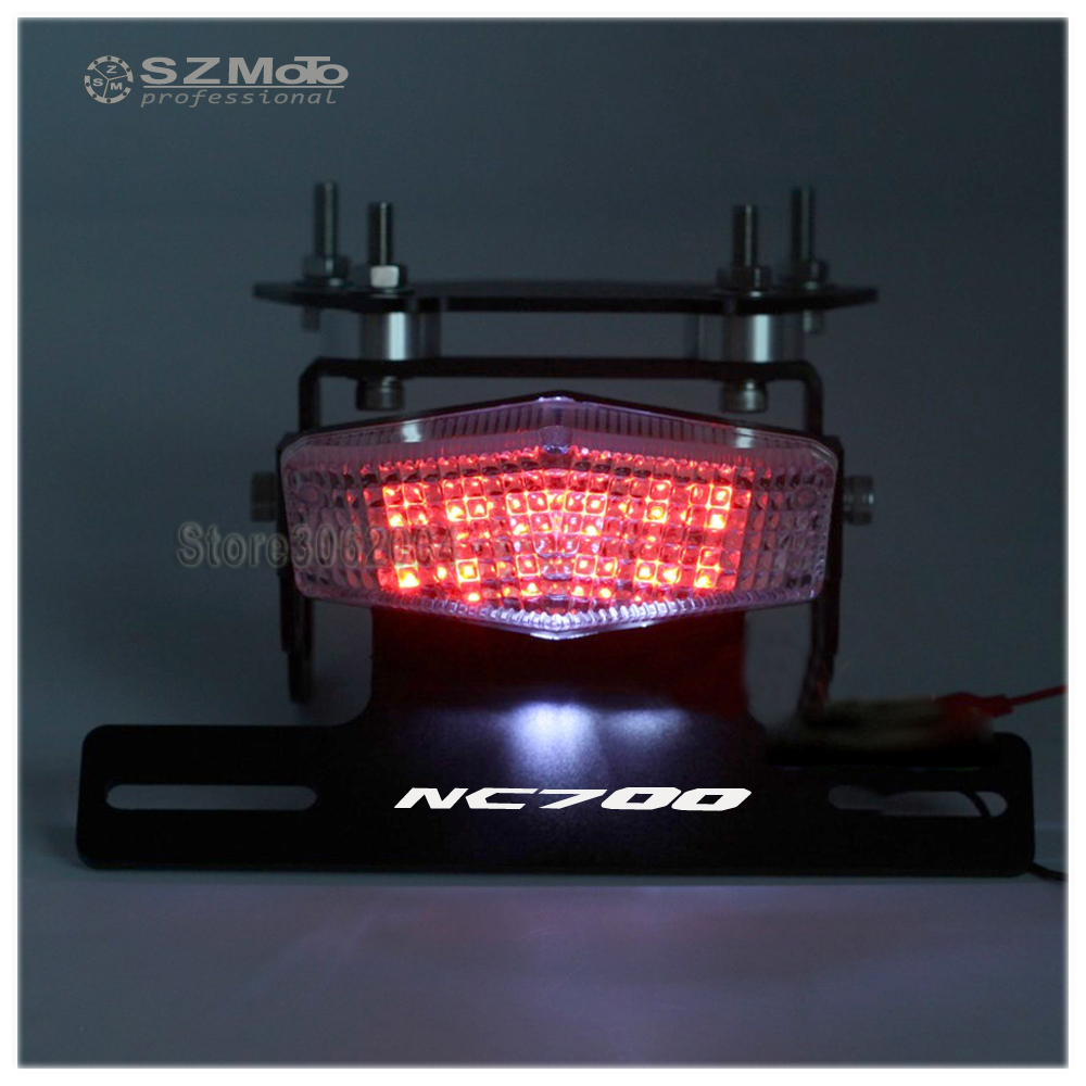 Motorcycle Tail Tidy Fender Eliminator Registration License Plate Holder frame LED LightFor HONDA NC700 S/X 2012 2013