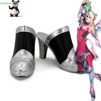 CosplayLove Custom Made OW Game Pink Angel Skin Cosplay Shoes Long Boots For Christmas Halloween
